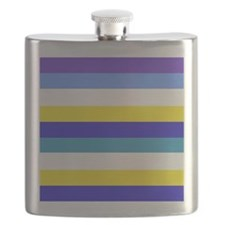 Blue, yellow and white stripes Flask