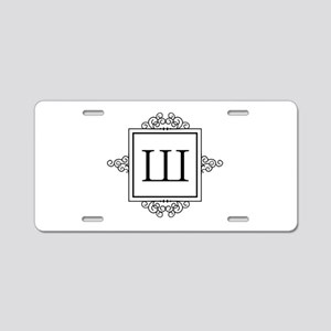 Russian Shah letter SH Monogram Aluminum License P