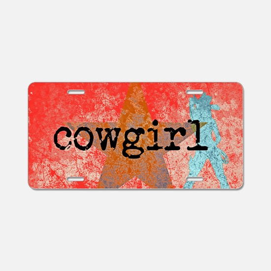 COUNTRY STAR COWGIRL Aluminum License Plate