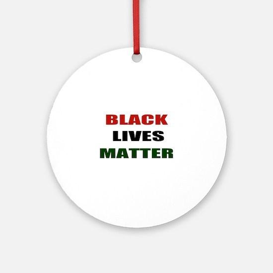 Black lives matter 2 Ornament (Round)