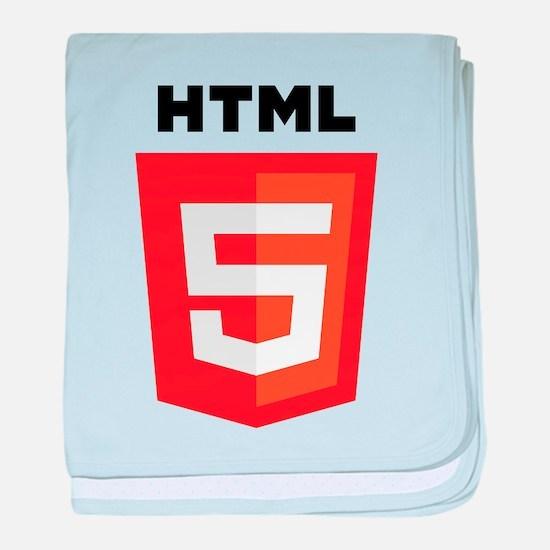 HTML5 Logo baby blanket