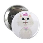 White Cartoon Cat Princess 2.25