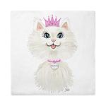 White Cartoon Cat Princess Queen Duvet