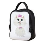White Cartoon Cat Princess Neoprene Lunch Bag