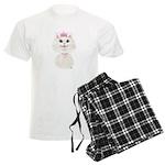 White Cartoon Cat Princess Men's Light Pajamas