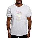 White Cartoon Cat Princess Light T-Shirt
