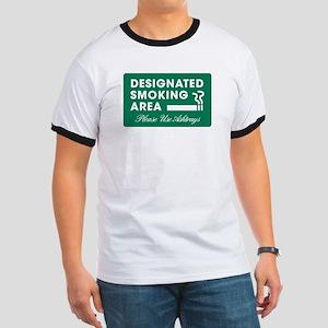 Designated smoking area T-Shirt