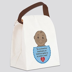 Pro-Life Psalm 139:13 Canvas Lunch Bag
