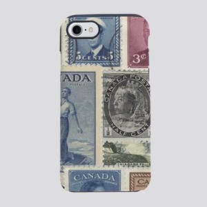 Old Canadian Stamps iPhone 8/7 Tough Case