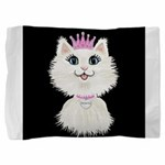 Cartoon Cat Princess (on blk) Pillow Sham