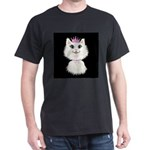 Cartoon Cat Princess (on blk) Dark T-Shirt