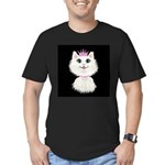 Cartoon Cat Princess ( Men's Fitted T-Shirt (dark)