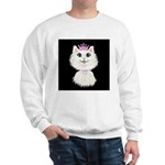 Cartoon Cat Princess (on blk) Sweatshirt