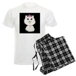 Cartoon Cat Princess (on blk) Men's Light Pajamas