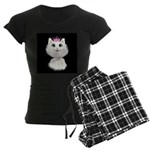 Cartoon Cat Princess (on blk Women's Dark Pajamas
