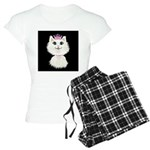 Cartoon Cat Princess (on bl Women's Light Pajamas