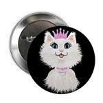 "Cartoon Cat Princess (on Bl 2.25"" Button (10"
