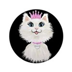 Cartoon Cat Princess (on Blk) Button
