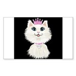 Cartoon Cat Princess (on Sticker (Rectangle 10 pk)