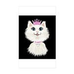 Cartoon Cat Princess (on Sticker (Rectangle 50 pk)