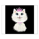 Cartoon Cat Princess (on blk) Small Poster