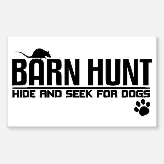 Cute Canine sports Sticker (Rectangle)