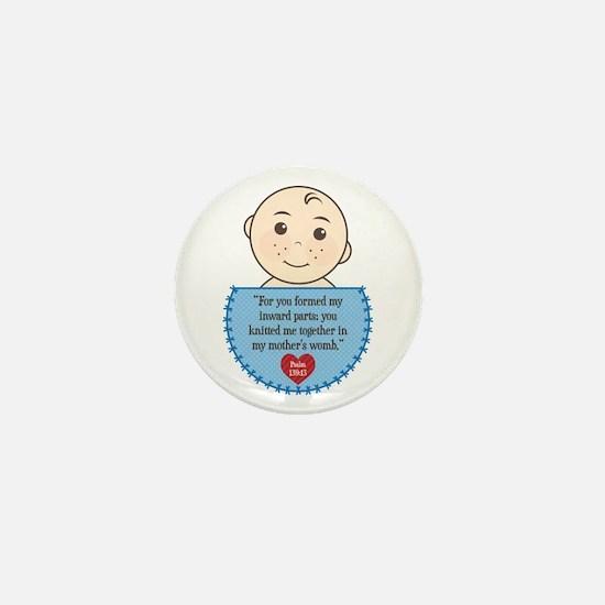 Pro-Life Psalm 139:13 Mini Button