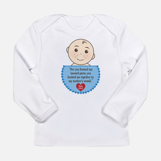 Pro-Life Psalm 139:13 Long Sleeve Infant T-Shirt