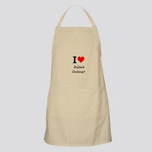 I Love Custom Names Cooking (julies) Apron