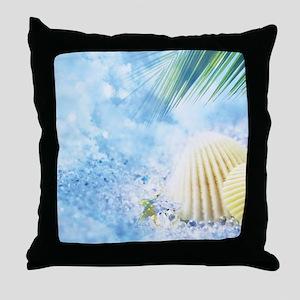 Summer Shell Throw Pillow