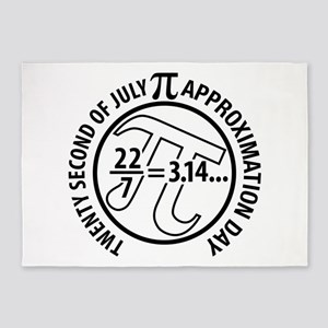 Pi Approximation Day, 22/7 5'x7'Area Rug