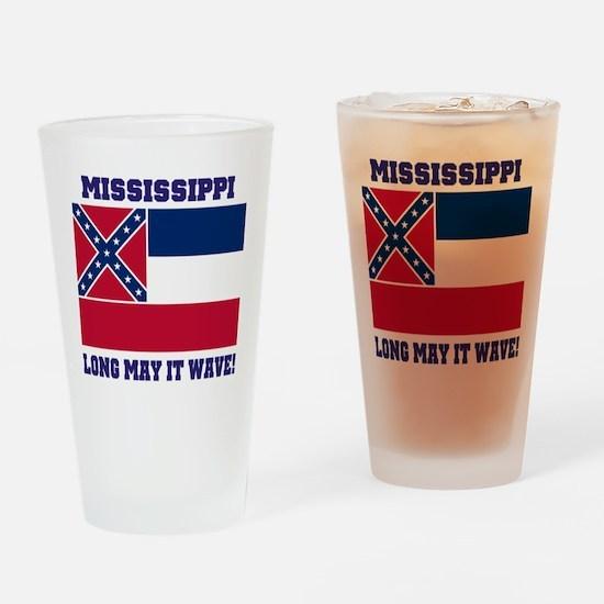 Mississippi State Flag Drinking Glass