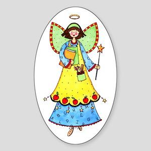 Education Angel Oval Sticker