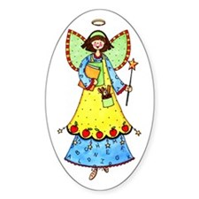 Education Angel Oval Sticker