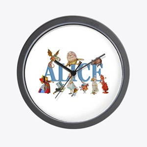 Alice in Wonderland and Friends Wall Clock