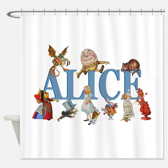 Alice in Wonderland and Friends Shower Curtain