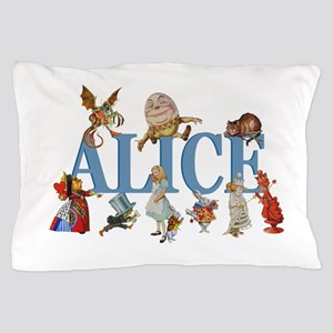 Alice in Wonderland and Friends Pillow Case