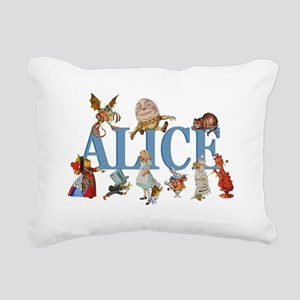 Alice in Wonderland and Rectangular Canvas Pillow