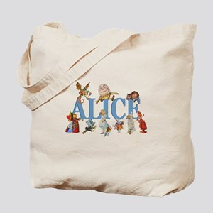 Alice in Wonderland and Friends Tote Bag