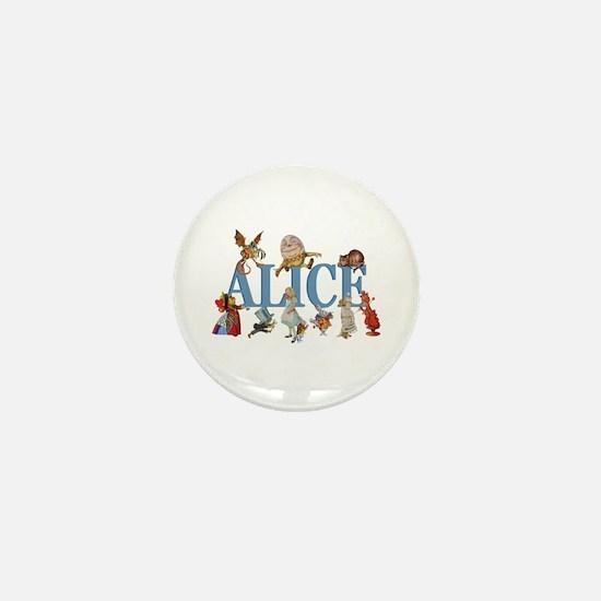Alice in Wonderland and Friends Mini Button