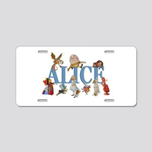 Alice in Wonderland and Fri Aluminum License Plate