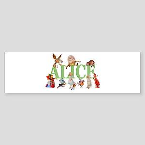 Alice in Wonderland and Friends Sticker (Bumper)