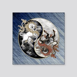 Harvest Moons Unicorns Yin Yang Sticker