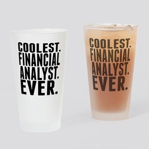 Coolest. Financial Analyst. Ever. Drinking Glass
