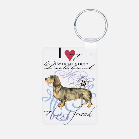 Wirehaired Dachshund Aluminum Photo Keychains