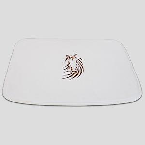 Brown Horse Head Bathmat