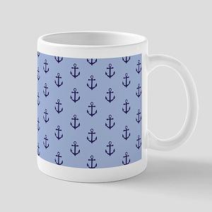 Anchors - Navy on Light Blue Mug