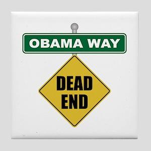 Dead End Obama Tile Coaster