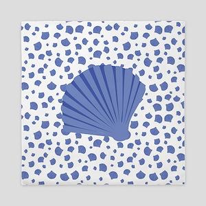 Sea Shells - Light Blue Queen Duvet