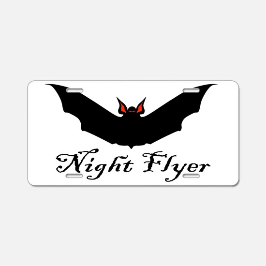 Night Flyer Aluminum License Plate